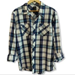 Pearl Snap Front Western Shirt OCEAN CURRENT
